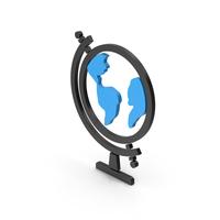 Symbol Globe Blue PNG & PSD Images