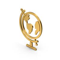 Symbol Globe Gold PNG & PSD Images