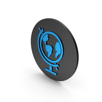 Globe Blue Icon PNG & PSD Images