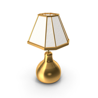 Gold Lamp and Lampshade PNG & PSD Images