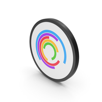 Icon Circular Chart Colored PNG & PSD Images
