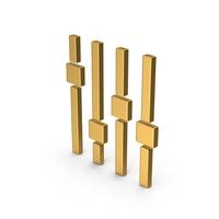 Symbol Adjustment Gold PNG & PSD Images