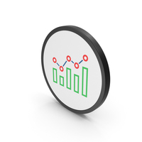 Icon Graph Colored PNG & PSD Images
