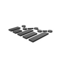 Black Symbol Graph PNG & PSD Images