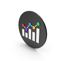 Multicolored Graph Icon PNG & PSD Images