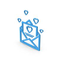 Symbol Love Letter Blue PNG & PSD Images