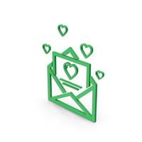 Symbol Love Letter Green PNG & PSD Images