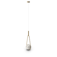 Pendant Lamp Loop Brass White Opaque Glass PNG & PSD Images