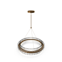 Phoebe 48 Round LED Crystal Chandelier Antique Brass PNG & PSD Images
