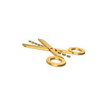 Gold Symbol Line Cut Scissors PNG & PSD Images