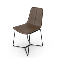 Slope Leather Dining Chair Westelm PNG & PSD Images