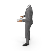 Notepad Suit Grey PNG & PSD Images