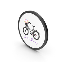 Hello Spring  Bicycle PNG & PSD Images