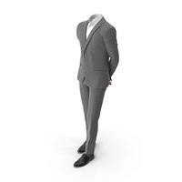 Waiting Hands Behind Suit Grey PNG & PSD Images