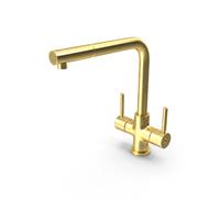Angular Dual Lever Sink Mixer Tap Brass PNG & PSD Images
