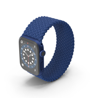 Apple Watch Series 6 Blue Braided Band PNG & PSD Images