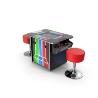 ArcadePro Mars 55 Cocktail Arcade Machine with Stools PNG & PSD Images