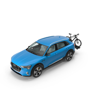 Audi E-tron with Thule EasyFold XT2 Mountain Bike PNG & PSD Images