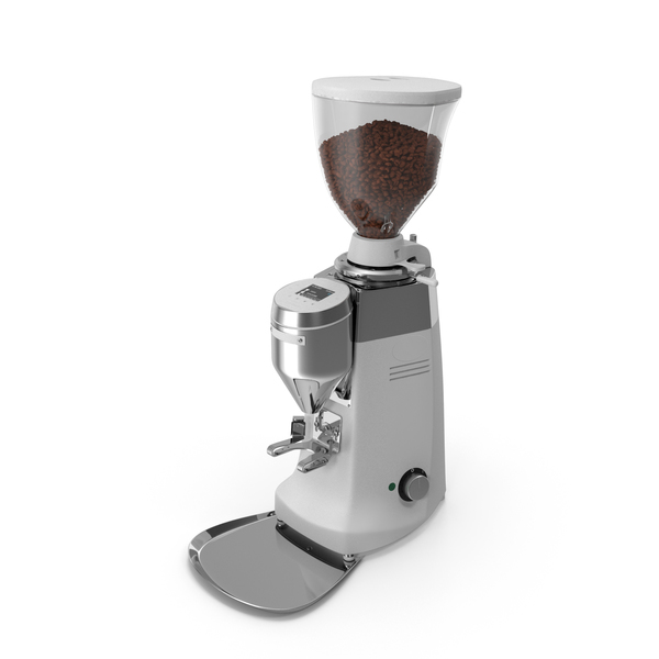 Automatic Grinder with Coffee Beans PNG & PSD Images