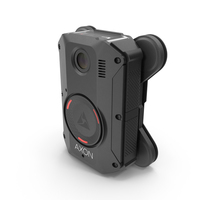 Axon Body 3 Body Camera with Magnet Mount PNG & PSD Images