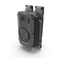 Axon Body 3 Police Body Camera on Molle Mount PNG & PSD Images