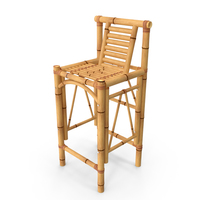Bamboo Bar Stool Square PNG & PSD Images