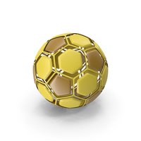 Soccerball Disassembled Yellow PNG & PSD Images