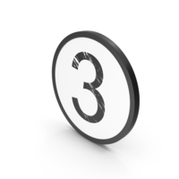 Letter 3 PNG & PSD Images