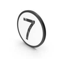 Letter 7 PNG & PSD Images