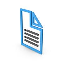 Symbol File Blue PNG & PSD Images