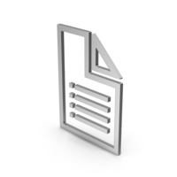 Symbol File Silver PNG & PSD Images