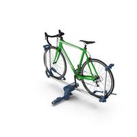 Bike Rack Aluminum Platform with Road Bike PNG & PSD Images
