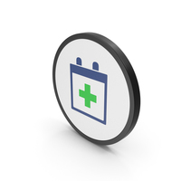 Icon Medical Calendar Colored PNG & PSD Images