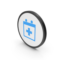 Icon Medical Calendar Blue PNG & PSD Images