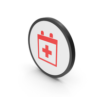 Icon Medical Calendar Red PNG & PSD Images
