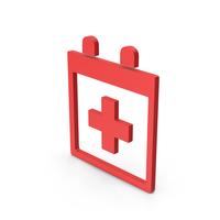 Symbol Medical Calendar Red PNG & PSD Images