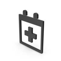 Symbol Medical Calendar Black PNG & PSD Images