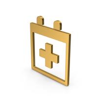 Symbol Medical Calendar Gold PNG & PSD Images