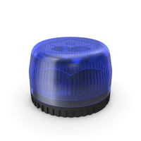 Blue Emergency Flashing Beacon PNG & PSD Images
