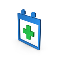 Medical Calendar Colored Metallic PNG & PSD Images