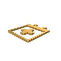 Gold Symbol Medical Calendar PNG & PSD Images