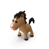 Brown Cartoon Horse PNG & PSD Images