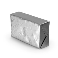 Butter Block in Metallic Foil PNG & PSD Images
