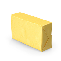 Butter Block in Metallic Gold Foil PNG & PSD Images