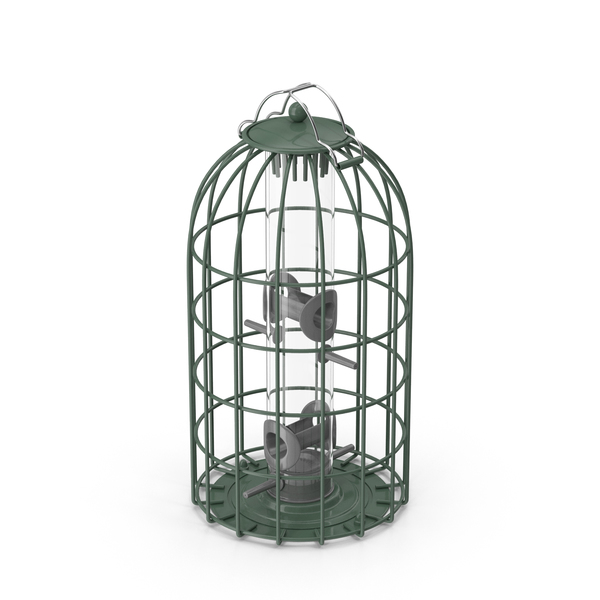 Caged Bird Feeder PNG & PSD Images
