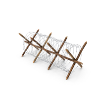 Cheval de Frise Barbed Wire Fence PNG & PSD Images