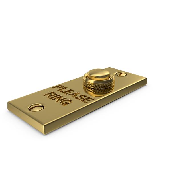 Classic Rectangular Doorbell Button PNG & PSD Images