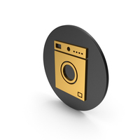 Washing Machine Gold Icon PNG & PSD Images