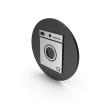 Washing Machine Silver Icon PNG & PSD Images
