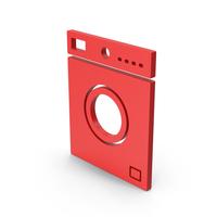 Symbol Washing Machine Red PNG & PSD Images